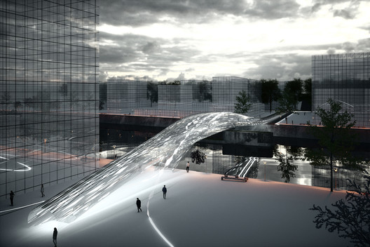 Future Projects Infrastructure: Brommy New Footbridge by SPANS Assosciates. Image Courtesy of WAF