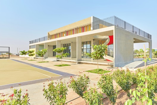 School: Mandviwala Qutub & Associates / Wockhardt Global School. Image Courtesy of WAF