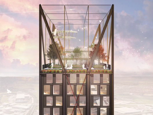 Competition Entries: Allford Hall Monaghan Morris / The Universal Tower. Image Courtesy of WAF