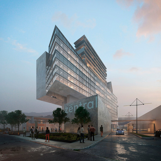 Commercial Mixed-Use: Archetonic / Zentral. Image Courtesy of WAF