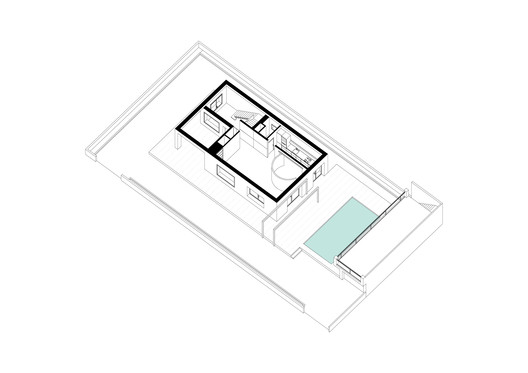 Axonometry of gorund floor plan