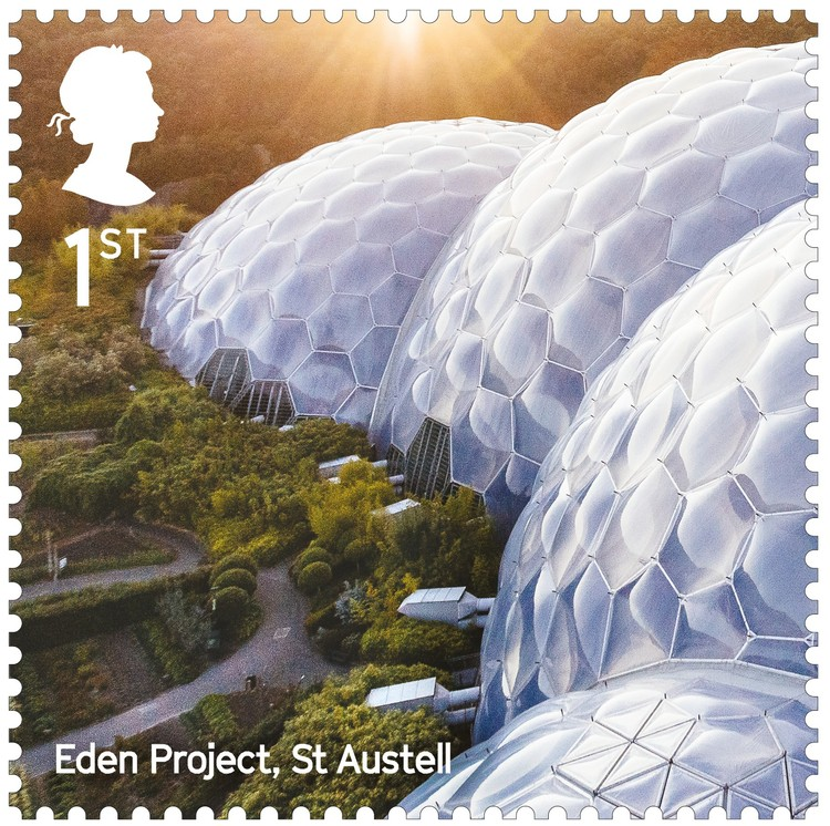 The Eden Project / Grimshaw Architects. Image Courtesy of Royal Mail