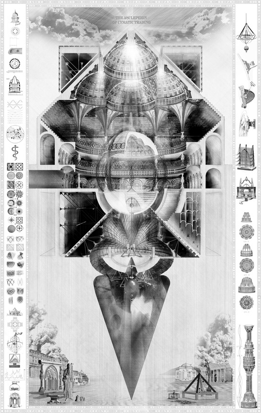 Asclepeion of Cymatic Trading: Capriccio after James Stevens Curl, by Patrick O'Keeffe (2017). Image © Patrick O'Keeffe