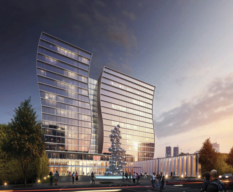 Arquitectonica to Design Hotel in Orlando as New Social Hub For the United States' Fastest Growing Community , Courtesy of Tavistock Development Company