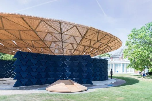 "Francis Kéré, Serpentine Pavilion, 2017, London. Photo: Iwan Baan. From the 2017 organizational grant to Serpentine Galleries for ""Serpentine Pavilion 2017 by Francis Kéré"". Image courtesy of The Graham Foundation"