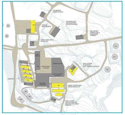 McMurdo final master plan. Image © OZ Architecture