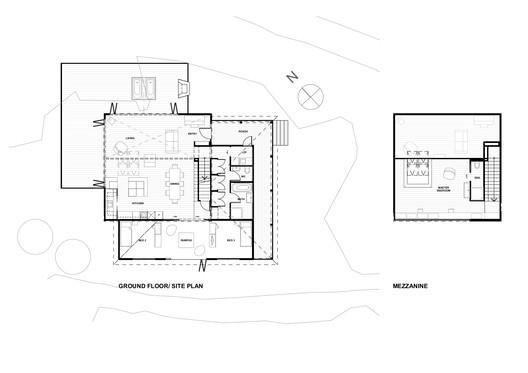 Ground Floor and Mezzanine Plans