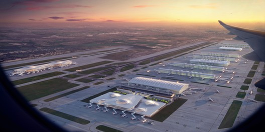 Heathrow Airport expansion, London. Image Courtesy of Zaha Hadid Architects