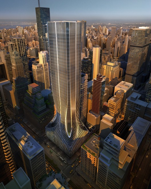 425 Park Avenue, New York City. Image Courtesy of Zaha Hadid Architects