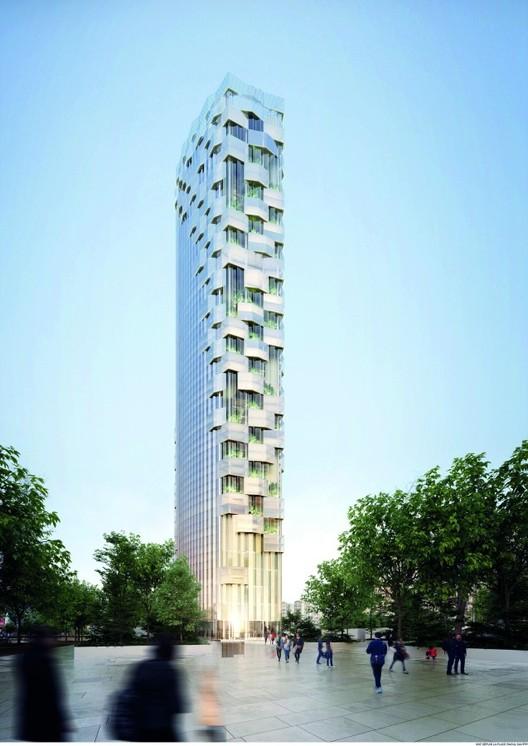 Proposal by Architecture Studio. Image via le Pavillon de l'Arsenal
