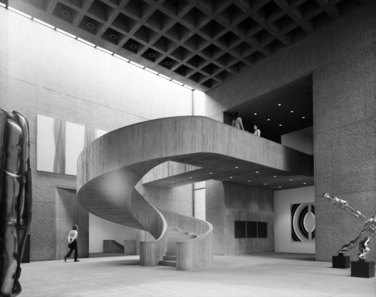 Everson Museum, Syracuse, NY / USA. Architecture: I. M. Pei. Image © Ezra Stoller / Esto