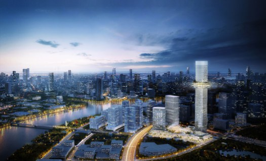 Skyline Future Vision. Empire City by Ole Scheeren. Image © Buro Ole Scheeren