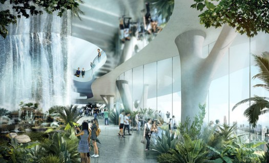 Sky Levels Rainforest. Empire City by Ole Scheeren. Image © Buro Ole Scheeren