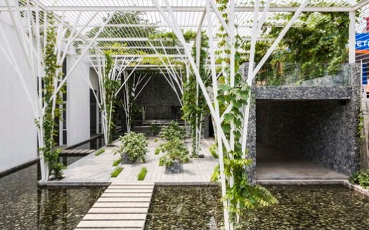Hotel and Leisure Winner: Vegetable Trellis; Ho Chi Minh City, Vietnam / Cong Sinh Architects. Image Courtesy of World Architecture Festival