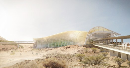 Exterior view of the Southern Habitat Biome. Image via ©Arup/Grimshaw