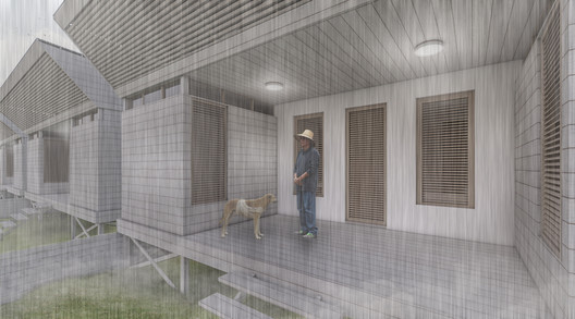 13_MODULO_EXTERIOR_COMPLETO_LLUVIA Architects Propose 120 Incremental Social Houses for Iquitos, Peru Architecture