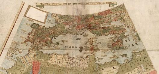 Detalle: sur de Europa y norte de África. Imagen vía David Rumsey Map Collection, Universidad de Stanford