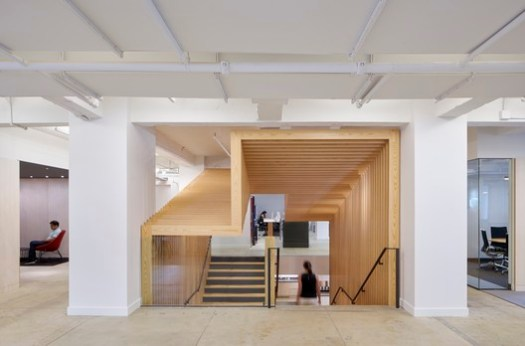 Pinterest NY (New York, New York) / IwamotoScott Architecture and Spector Group (Architect of Record). Image Courtesy of Wood Design & Building Awards