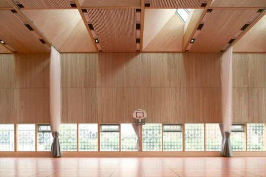 Multi-functional Sports Hall Alice Milliat (Lyon, France) / Dietrich | Untertrifaller Architekten and Tekhnê Architectes. Image Courtesy of Wood Design & Building Awards