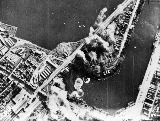 "Image source: British official photo from OWI., <a href=""https://commons.wikimedia.org/wiki/File:RAF_attack_Saint_Malo_31_Jul_1942.jpg"">RAF attack Saint Malo 31 Jul 1942</a>, marked as public domain, more details on <a href=""https://commons.wikimedia.org/wiki/Template:PD-UKGov"">Wikimedia Commons</a>"