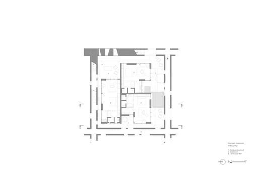 Courtyard Guestroom Plan 1F