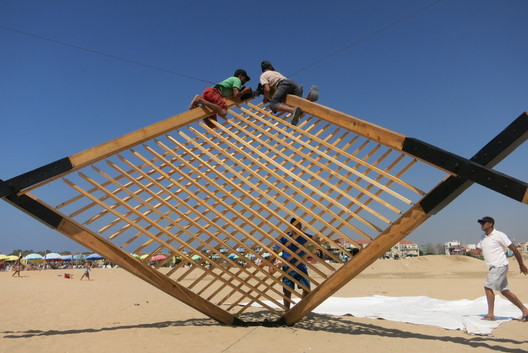 07 Lightweight Wooden Deployable Structure Aims for Large Social Impact Without Leaving a Mark Architecture