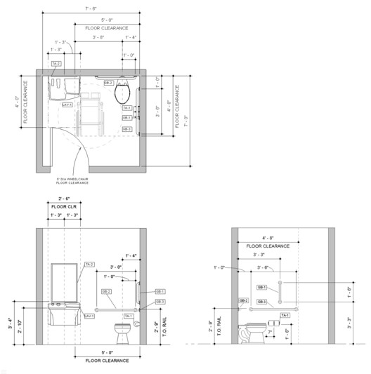 bradleycorprevit Design a Bathroom for People with Disabilities by Downloading this Basic Revit Sample Model Architecture