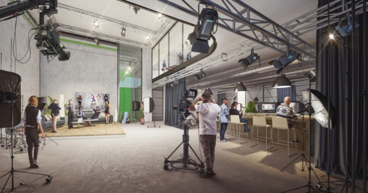 Production space. Rendering by Flying Architecture. Image Courtesy of UNStudio