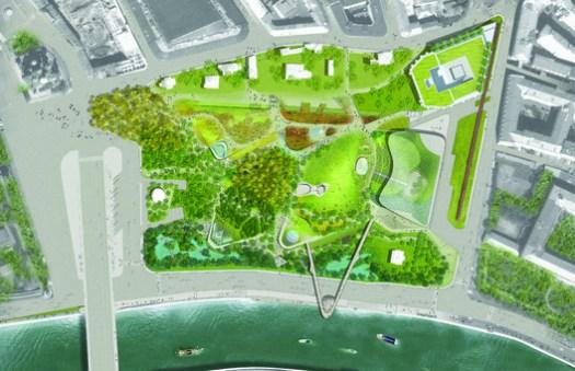 Parque Zaryadye Plan / Diller Scofidio + Renfro. Image via Diller Scofidio + Renfro