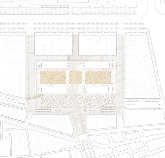 Born Market area plan / Vora. Image via Vora