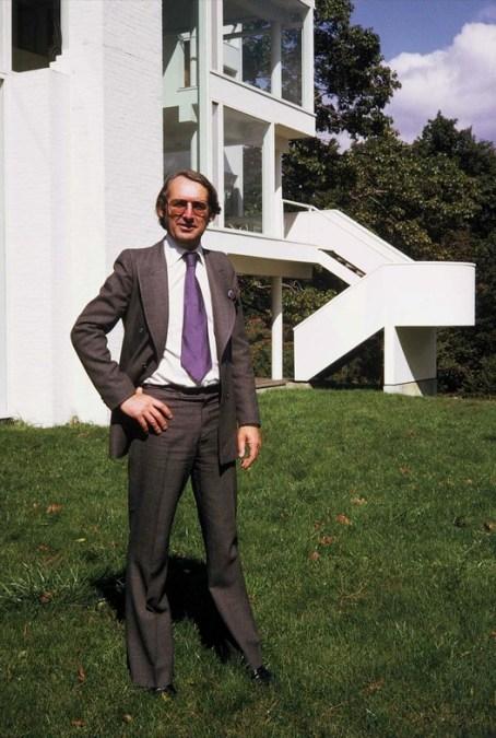 Richard Meier'in evin inşası devam ederken çekindiği fotoğraf.  Courtesy of Richard Meier & Partners Architects
