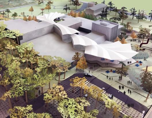 Architectural Model. Image Courtesy of Studio Gang