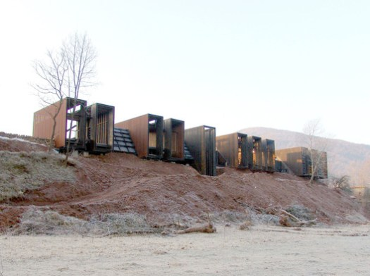 Rural House designed by RCR Arquitectes. Rafael Aranda, Carme Pigem, and Ramón Vilalta of RCR Arquitectes won the Pritzker last year. Image Courtesy of RCR Arquitectes
