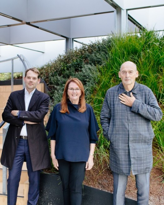 David Gianotten, Naomi Milgrom and Rem Koolhaas (from left). Photograph by Timothy Burgess. Courtesy of MPavilion