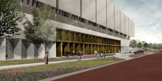 Main Entrance. Image Courtesy of Adjaye Associates