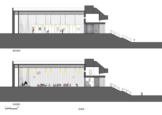 %E5%89%96%E9%9D%A2%E5%9B%BE Renovation of the Multi-Function Hall in Central Academy of Fine Arts / Architecture School of CAFA Architecture