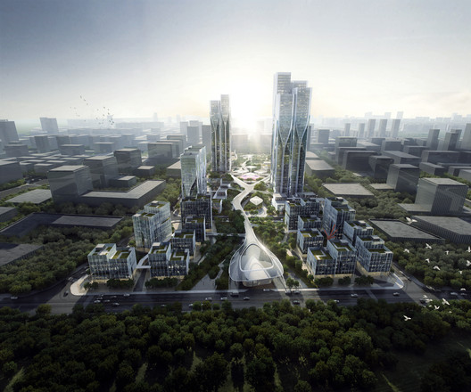 Vanke_Tianfu_Cloud_City__by_Aedas_2 Aedas' Latest Mixed-Use Development Creates a City Inspired by 'The Cloud' Architecture