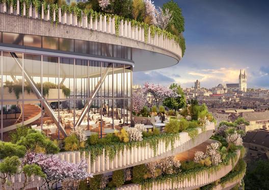 05_-_ARBORICOLE_-_PANORAMIC_GOURMET_RESTAURANT Vincent Callebaut Architectures Wins Public Vote for Millennial Vertical Forest Competition Architecture