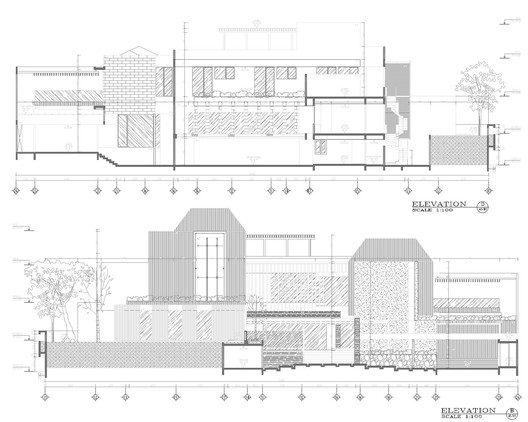 Elevation_B_-_D A Box in Disguise / Wahana Architects Architecture