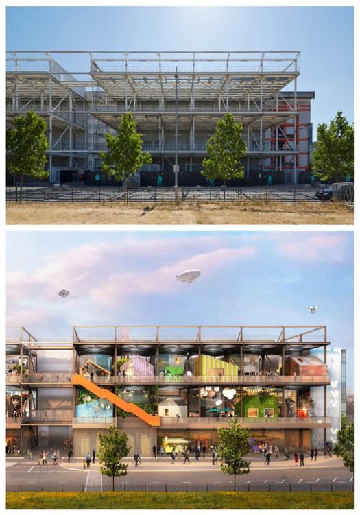Here East / Hawkins\Brown. Image © GG Archard (top image) Pixelflakes (bottom image)