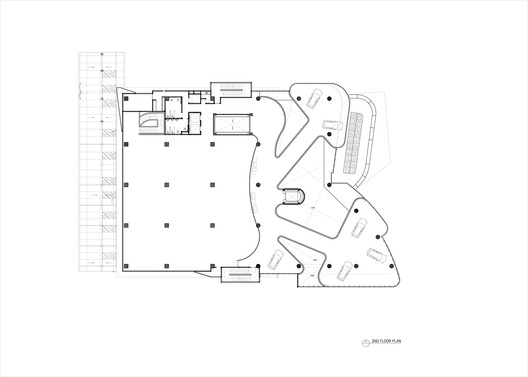 6_2ND_FLOOR_PLAN Andalan Automotive Gallery and Office / Studio SA_e + Sindhu Hadiprana Design Consultant Architecture