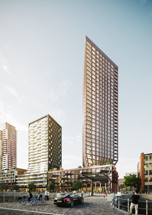 BarcodeArchitects_CasaNova_exterior3 Barcode Architects Brings New Triangular Residential Tower to Rotterdam's Skyline Architecture