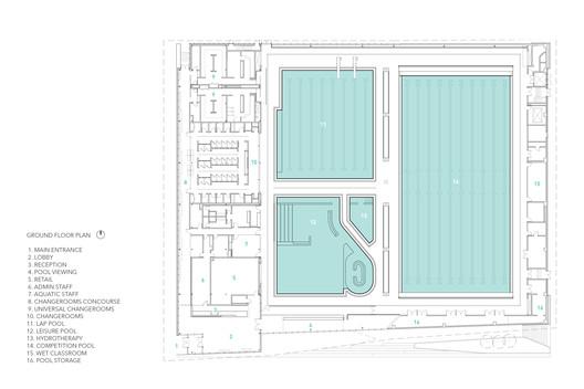 UBC_Floor_Plan UBC Aquatic Centre / MJMA + Acton Ostry Architects Architecture