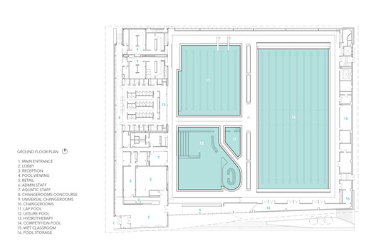 UBC_Floor_Plan UBC Aquatic Centre / MJMA + Acton Ostry Architects Architecture