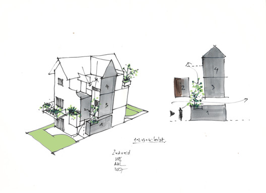 HP6_diagram_2nd_void HP6 House / AHL architects Architecture