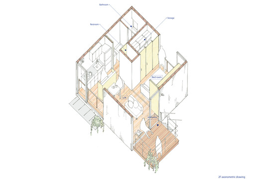 Upper Floor Axonometric