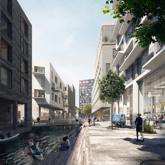 Key_West_Brussels_Henning_Larsen_04 Henning Larsen Brings Canals and Rooftop Farming to Brussels in Competition-Winning Masterplan Architecture
