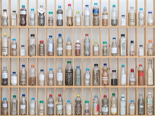 Sand samples collected for Atelier NL's project <em>To See a World in a Grain of Sand</em>. Image Courtesy of Atelier NL