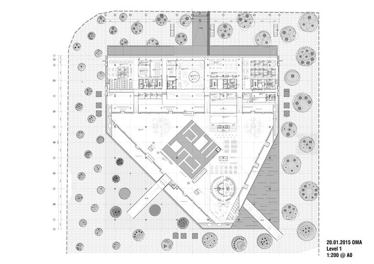 Level 1 Floor Plan © OMA