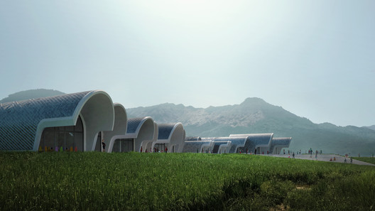 01_ZHA_Lushan_render_by_VA Zaha Hadid Architects Designs Parabolic-Vaulted School Campus in Rural China Architecture